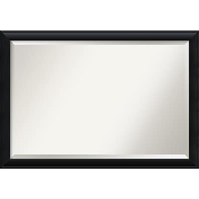 Amanti Art Nero Black Wall Mirror - Extra Large 39 x 27 in. Wood Black Frame (DSW2968497)