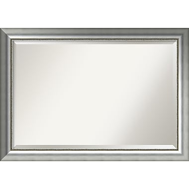 Amanti Art Vegas Burnished Silver Wall Mirror, Extra Large, 41