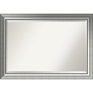 Amanti Art ? Miroir mural, argenté bruni Vegas, très grand, 41 x 29 po, cadre argenté (DSW2969597)