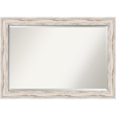 Amanti Art Alexandria Whitewash Wall Mirror - Extra Large 41