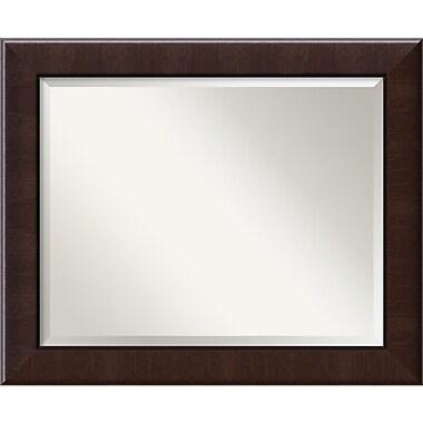 Amanti Art ? Miroir mural ambre foncé, grand, 34 x 28 po, noyer foncé (DSW1391477)