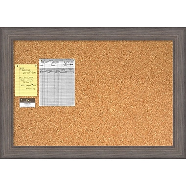 Amanti Art Country Barnwood Cork Board Large Message Board, 41 x 29