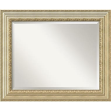 Amanti Art Victorian Champagne Wall Mirror, Large, 35