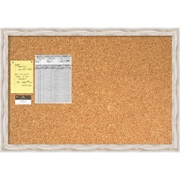 Alexandria Whitewash Cork Board, Large Message Board 39 x 27 inch (DSW1418336) by