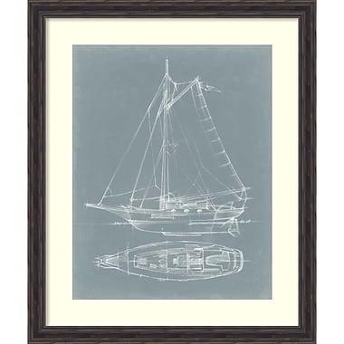 Amanti Art ? Impression encadrée « Yacht Sketches IV » par Ethan Harper, 32 x 38 po (DSW1418703)