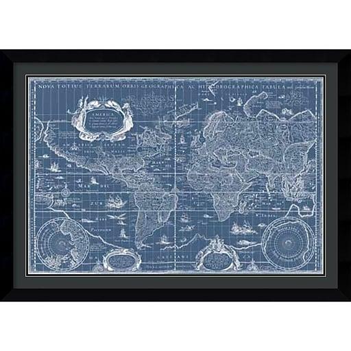 Willem blau old world blueprint framed art print 43 x 31 httpsstaples 3ps7is malvernweather Images