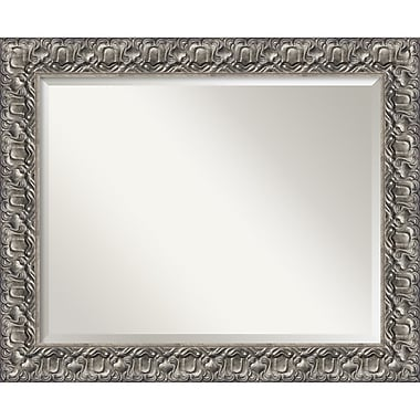 Amanti Art Silver Luxor Wall Mirror, Large, 34