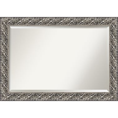 Amanti Art Silver Luxor Wall Mirror, Extra Large, 42