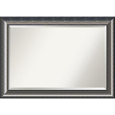 Amanti Art ? Miroir mural Quicksilver, très grand, argenté, 42 x 30 po (DSW1418321)