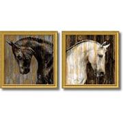 Amanti Art Martin Rose 'Horse- set of 2' Art Print 31 x 31  in. Gold Wood Frame (DSW1385983)