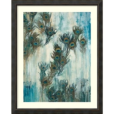 Amanti Art ? Impression encadrée « Fier comme un paon » par Liz Jardine, 40 x 50 po, cadre en bois bronze (DSW2880680)