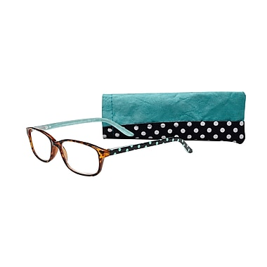 Select-A-Vision Victoria Klein Ladies High Fashion +1.75 Reading Glasses, Blue Polka Dot (E9082BD-175)