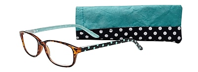Select-A-Vision Victoria Klein Ladies High Fashion +3.00 Reading Glasses, Blue Polka Dot (E9082BD-300)