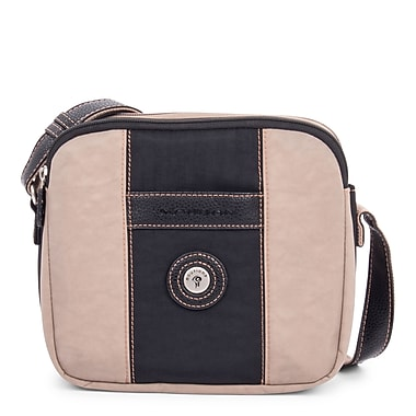 Mouflon Bicolore Small Crossbody, Black/Taupe
