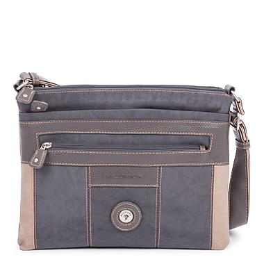 Mouflon Bicolore Small Crossbody, Grey/Taupe