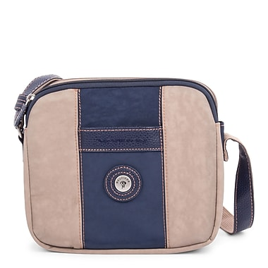 Mouflon Bicolore Small Crossbody, Navy/Taupe