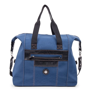 Mouflon Leather Duffle Bag, Indigo/Black