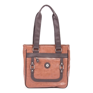 Mouflon Generation Small Tote, Tan/Dark Brown