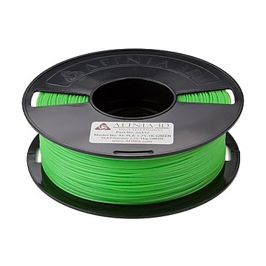 Afinia Value-Line PLA Filament for 3D Printers, Green, (AFPLA1.751KGREE)