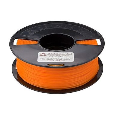 Afinia Value-Line PLA Filament for 3D Printers, Orange, (AFPLA1.751KORAN)