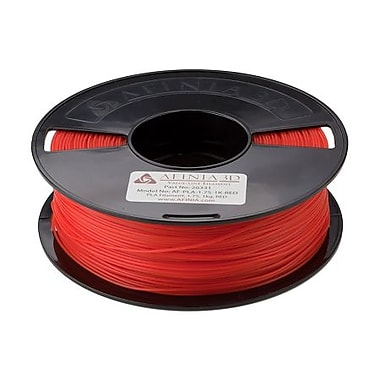 Afinia Value-Line Natural PLA Filament for 3D Printers, Red