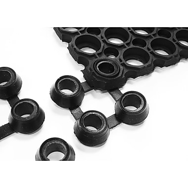 Floortex FOCTOCONN Octomat Connector Pack to Join Octomats Together, Black, 10 per pack