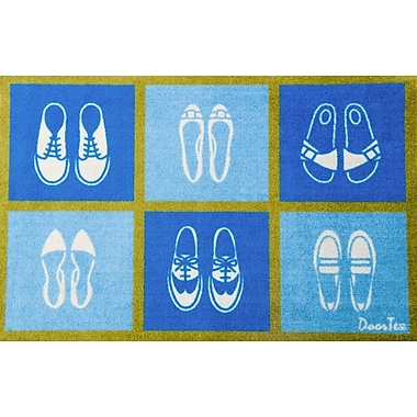 Floortex FR4ER2030 Residential Indoor Entrances Mat with shoe pattern, 20