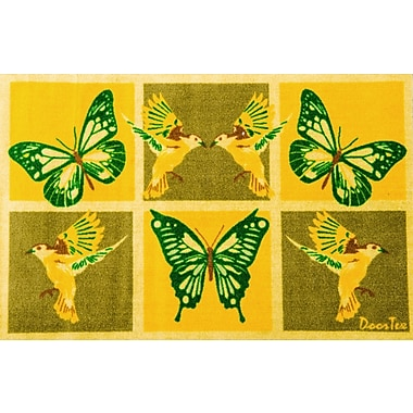 Floortex FR4SR2030 Residential Indoor Entrances Mat with Butterfly and Bird motif, 20