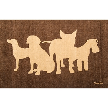 Foortex FR4WR2439 Residential Indoor Entrances Mat with Dogs, 24
