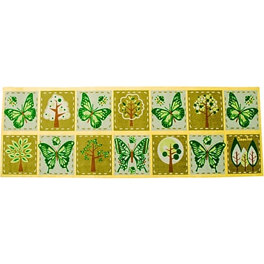 Floortex FR4SR2055 Residential Indoor Entrances Mat with Plant and Butterfly motif, 20