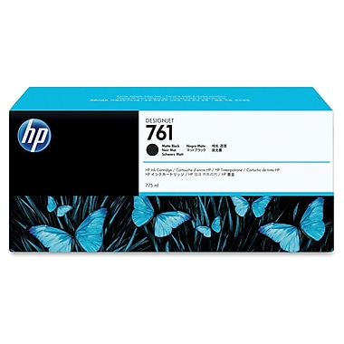 HP 761 Ink Cartridge, Inkjet, OEM, Matte Black, (CM997A)