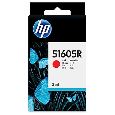 HP Ink Cartridge, Inkjet, Retail, Red, (51605R)