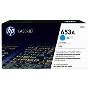 HP 653A Toner Cartridge, Laser, Cyan, (CF321AC)