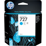 HP 727 Ink Cartridge, Inkjet, Cyan, (F9J76A)