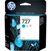 HP – Cartouche d'encre 727, jet d'encre, cyan (F9J76A)