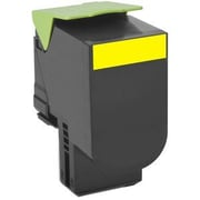 Lexmark Unison 800H4 Toner Cartridge, Laser, High Yield, OEM, Yellow, (80C0H40)