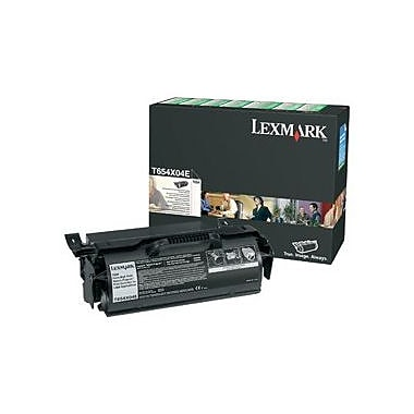 Lexmark Return Program Toner Cartridge, Laser, Extra High Yield, Black, (T654X04A)