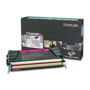 Lexmark Return Program Toner Cartridge, Laser, Standard Yield, OEM, Magenta, (C734A1MG)