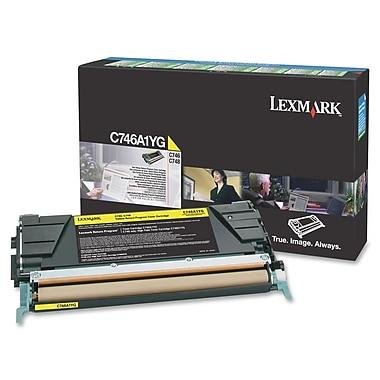 Lexmark C746, C748 Return Program Toner Cartridge, Laser, Yellow, (C746A1YG)