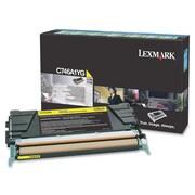 Lexmark - Cartouche de toner du programme de retour C746, C748, laser, jaune, (C746A1YG)