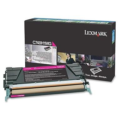 Lexmark C748 Return Program Toner Cartridge, Laser, High Yield, Magenta, (C748H1MG)