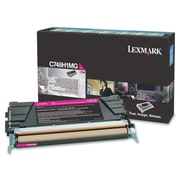 Lexmark C748 Return Program Toner Cartridge, Laser, High Yield, Magenta, (C748H1MG)