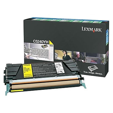Lexmark Return Program Toner Cartridge, Laser, High Yield, (C5240YH)