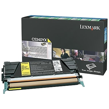 Lexmark Return Program Toner Cartridge, Laser, Extra High Yield, OEM, Yellow, (C5340YX)