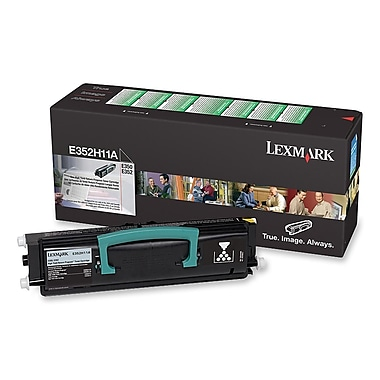 Lexmark Toner Cartridge, Laser, High Yield, Black, (E352H11A)