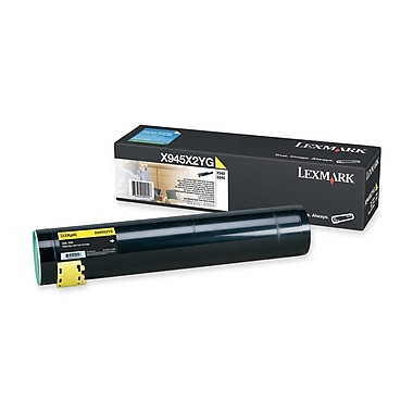 Lexmark Toner Cartridge, Laser, High Yield, Yellow, (X945X2YG)