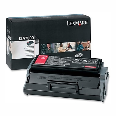 Lexmark Toner Cartridge, Laser, Black, (12A7300)