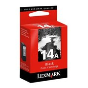 Lexmark #14A Ink Cartridge, Inkjet, Black, (18C2080)