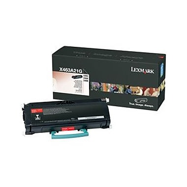 Lexmark Toner Cartridge, Laser, Black, (X463A21G)