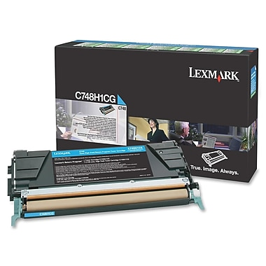 Lexmark C748 Return Program Toner Cartridge, Laser, High Yield, Cyan, (C748H1CG)